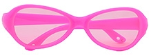 Angel Glitter Kids Sunglasses - Neon Pink