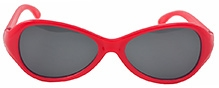 Angel Glitter Kids Sunglasses - Bright Red