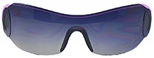 Angel Glitter Wrap Around Shield Kids Sunglasses - Grey And Purple
