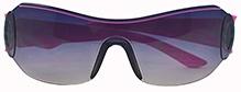 Angel Glitter Wrap Around Shield Kids Sunglasses - Grey And Pink
