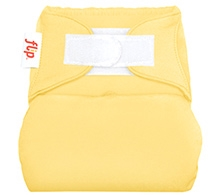 Flip Hook And Loop Stay Dry Cloth Diaper Cover Butternut