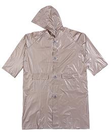 Babyhug Full Sleeves Hooded Raincoat - Brown