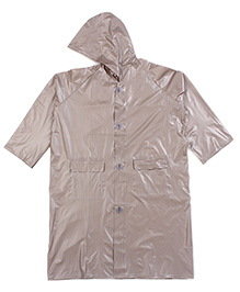Babyhug Full Sleeves Hooded Raincoat - Brown