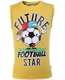 Ollypop Sleeveless T Shirt Yellow - Future Football Star