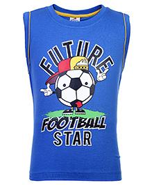 Ollypop Sleeveless Printed T-Shirt - Blue