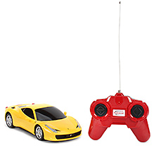 Rastar Ferrari 458 Italia Remote Controlled Car - Yellow