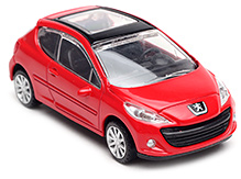 Rastar Peuguot 207 Scale Model - Red