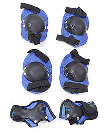 Fab N Funky Skates Protective Gear Set - Blue and Black