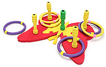 Safsof Jigsaw Ring Toss Butterfly Game - Red and Yellow