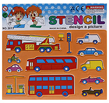 Fab N Funky Vehicle Design Stencils - Orange