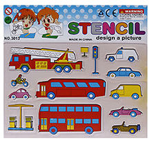 Fab N Funky Vehicle Design Stencils - Cream