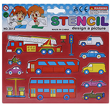 Fab N Funky Vehicle Design Stencils - Red