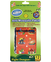 Runbugz Anti Mosquito Patches Summer Print - 12 Patches