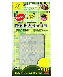 Runbugz Anti Mosquito Patches Plain White - 12 Patches - Safe For Babies