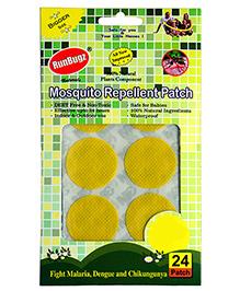 Runbugz Anti Mosquito Patches Plain Yellow - 24 Patches