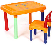 Fab N Funky Multicolor Study Table and Chair
