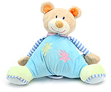 Carters Soft Toy Teddy Shape Rattle with Music - Height 26.5 cm
