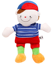 Carters Soft Toy Baby Boy Shape Rattle with Music - Height 31 cm