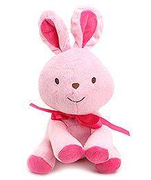 Carters Pink Soft Toy Bunny Shape Rattle with Music - Height 21.5 cm