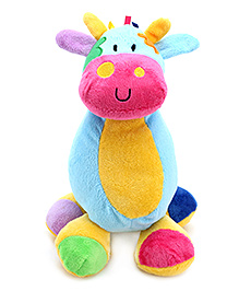 Carters Multicolor Soft Toy Animal Shape Rattle with Music - Height 26 cm