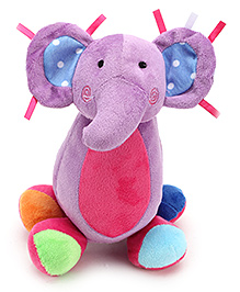 Carters Soft Toy Elephant Shape Rattle with Music - Height 26 cm
