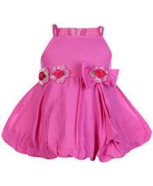 Softouch Singlet Balloon Pattern Party Frock - Pink