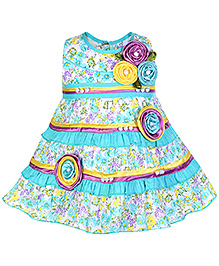 Babyhug Sleeveless Flower Printed Frock