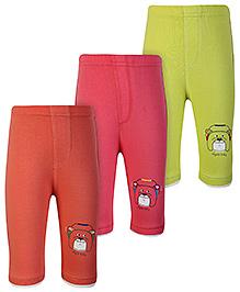 Ollypop Full Length Leggings Multi Colour - Set of Three