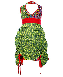 Little Kangaroo Halter Neck Frock With Neckpiece