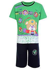 BabyHug Hosiery T-Shirt and Shorts Sets - Work Safety Print