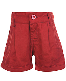SAPS Shorts with Turn Up Bottom - Maroon