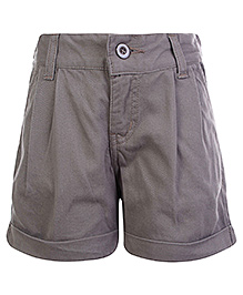 SAPS Shorts with Turn Up Bottom - Grey
