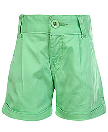 SAPS Shorts with Turn Up Bottom - Green
