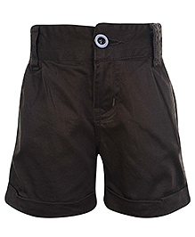 SAPS Shorts with Turn Up Bottom - Black