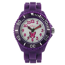 Colori Kids Analog Watch - Dark Purple - Dial Diameter 34 Mm