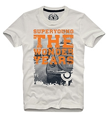 The Wonder Years T Shirts Half Sleeves OFF WHITE 10/11Y(80CM)