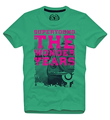 The Wonder Years T Shirts Half Sleeves GREEN 10/11Y(80CM)