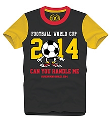 World Cup T Shirts Half Sleeves CHARCOAL 10/11Y(80CM)