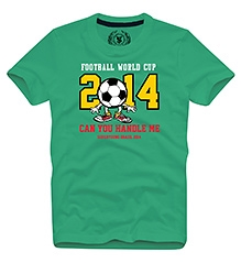 World Cup T Shirts Half Sleeves GREEN 10/11Y(80CM)
