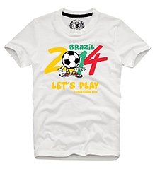Lets Play T Shirts Half Sleeves OFF WHITE 10/11Y(80CM)