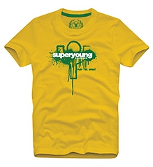Super Young T-Shirt Half Sleeves - Yellow
