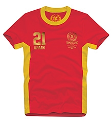 Spain21 T Shirts Half Sleeves  RED 10/11Y(80CM)