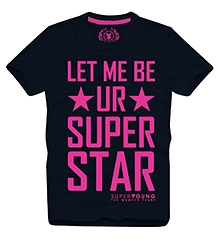 Super Star T Shirts Half Sleeves  NAVY 10/11Y(80CM)