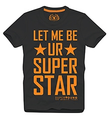 Super Star T Shirts Half Sleeves  CHARCOAL 10/11Y(80CM)
