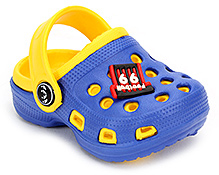 Cute Walk Clog with Back Strap - Blue and Yellow