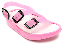 Cute Walk Sandal Style Clog with Buckle Strap - Pink
