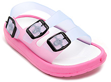 Cute Walk Sandal Style Clog with Buckle Strap - Pink and Blue