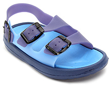 Cute Walk Sandal Style Clog with Buckle Strap - Blue