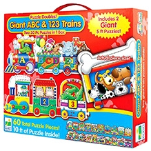 Learning Journey Puzzle Doubles Giant ABC & 123 Train - Floor Puzzles