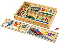 Melissa & Doug See And Spell Wooden Puzzle Set